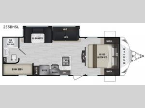 Kodiak Ultra-Lite 255BHSL Floorplan Image