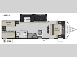 Kodiak Ultra-Lite 283BHSL Floorplan Image
