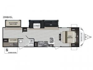 Kodiak Ultra-Lite 299BHSL Floorplan Image