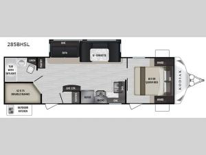 Kodiak Ultra-Lite 285BHSL Floorplan Image