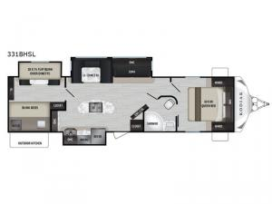 Kodiak Ultra-Lite 331BHSL Floorplan Image