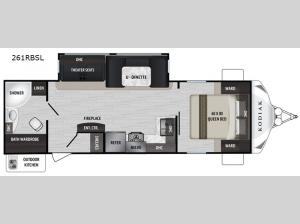 Kodiak Ultra-Lite 261RBSL Floorplan Image