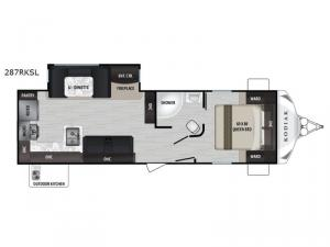 Kodiak Ultra-Lite 287RKSL Floorplan Image