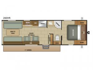 Autumn Ridge 260HR Floorplan Image