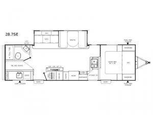 Freedom Express 28.7SE Floorplan Image