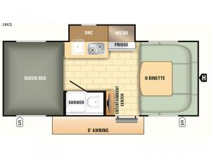Comet Mini 16KS Floorplan Image