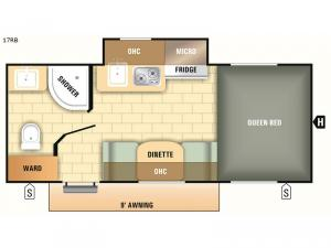 Comet Mini 17RB Floorplan Image