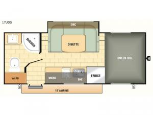 Comet Mini 17UDS Floorplan Image