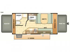 Launch Outfitter 7 16RB Floorplan Image