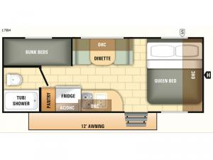 Launch Outfitter 7 17BH Floorplan Image