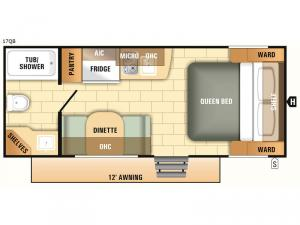 Launch Outfitter 7 17QB Floorplan Image