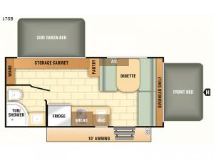 Launch Outfitter 7 17SB Floorplan Image