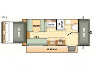 Launch Outfitter 7 19BHS Floorplan Image