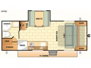 Launch Outfitter 7 19MBS Floorplan Image