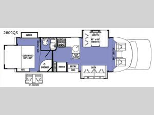 Sunseeker Grand Touring Series 2800QS Floorplan Image