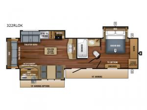 Eagle 322RLOK Floorplan Image