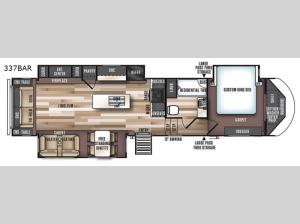 Salem Hemisphere GLX 337BAR Floorplan Image