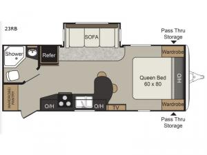 Passport Elite 23RB Floorplan Image
