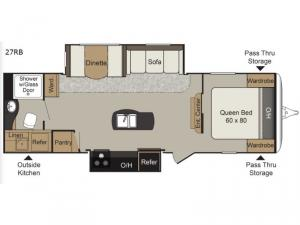 Passport Elite 27RB Floorplan Image