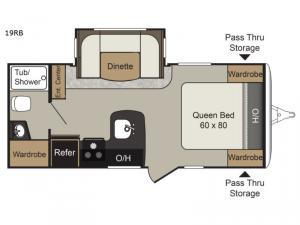 Passport Elite 19RB Floorplan Image