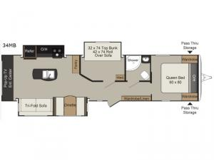Passport Elite 34MB Floorplan Image