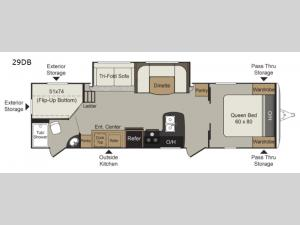 Passport Elite 29DB Floorplan Image