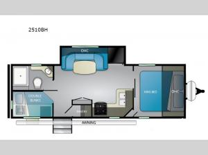 Wilderness 2510BH Floorplan Image