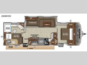 Eagle HT 284BHOK Floorplan Image