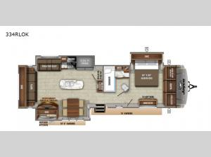 Eagle 334RLOK Floorplan Image