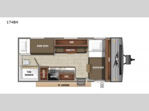 Jay Flight SLX 7 174BH Floorplan Image