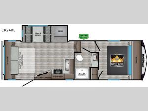 Cruiser Aire CR24RL Floorplan Image