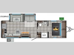 Cruiser Aire CR28RKS Floorplan Image
