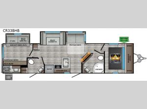 Cruiser Aire CR33BHB Floorplan Image