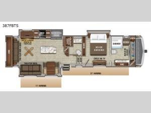 North Point 387FBTS Floorplan Image