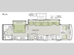 Open Road Allegro 36 LA Floorplan Image