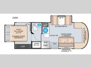 Synergy Sprinter 24SK Floorplan Image