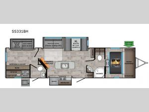 Sunset Trail SS331BH Floorplan Image
