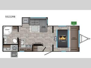 Sunset Trail SS222RB Floorplan Image