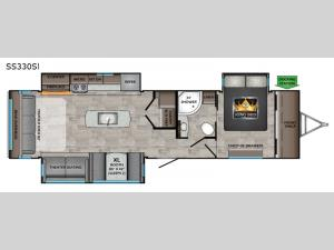 Sunset Trail SS330SI Floorplan Image