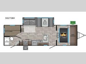 Sunset Trail SS272BH Floorplan Image
