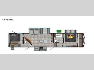 Cruiser CR3851BL Floorplan Image
