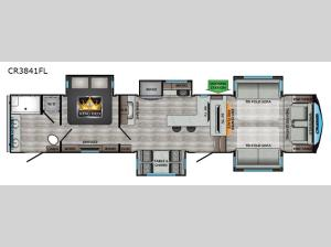 Cruiser CR3841FL Floorplan Image