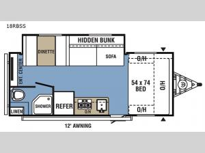 Clipper Ultra-Lite 18RBSS Floorplan Image