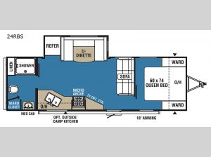 Clipper Ultra-Lite 24RBS Floorplan Image