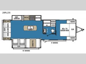 Clipper Ultra-Lite 28RLDS Floorplan Image