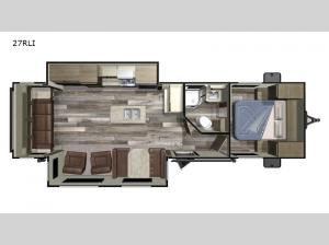 Autumn Ridge Outfitter 27RLI Floorplan Image