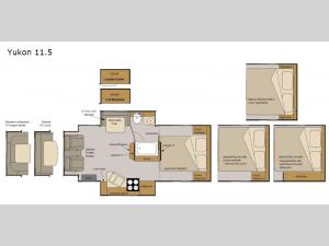 Host Campers Yukon 11.5 Floorplan Image