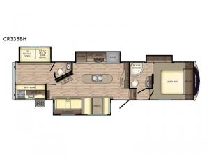 Cruiser CR335BH Floorplan Image