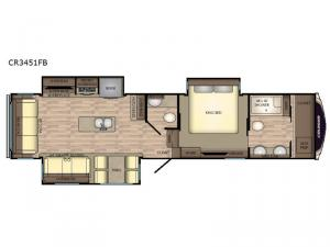 Cruiser CR3451FB Floorplan Image