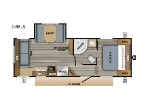 Jay Flight SLX 8 245RLS Floorplan Image